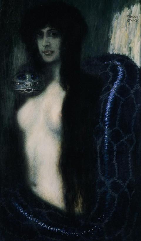 Franz von Stuck, Il peccato, 1909 ca. - olio su tela