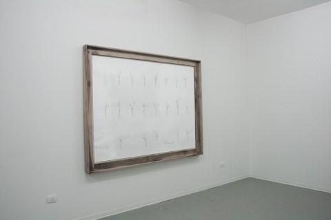 Eugenio Giliberti, Data Base, 2014 - matita su carta, legno di noce