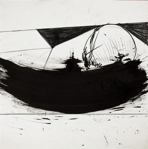 Emilio Scanavino, Senza titolo, 1965 - matita grassa su carta, 40x40 cm