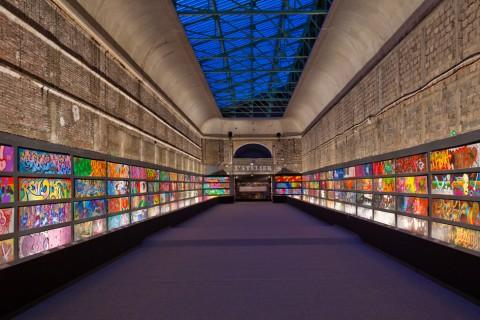 La collezione di graffiti di Alain Dominique Gallizia esposta al Grand Palais nel 2009 © A. D. Gallizia