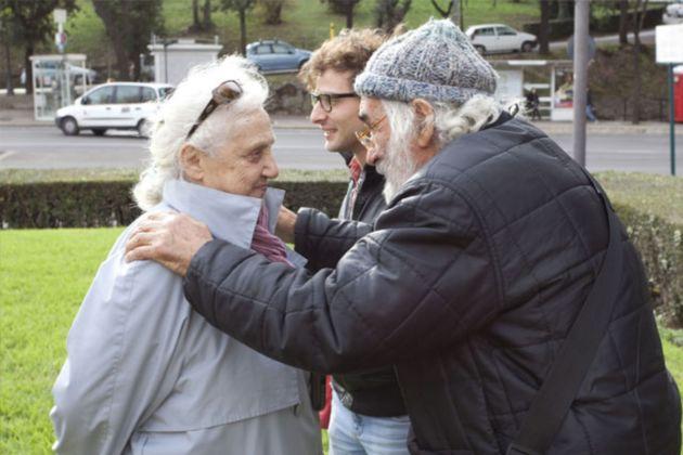 Mara Coccia con Mauro Staccioli