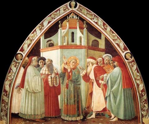 Paolo Uccello, Disputa di Santo Stefano - Cappella dell'Assunta, Duomo di Prato
