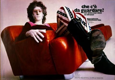 Gianni Sassi, manifesto pubblicitario per i divani Busnelli (1971)