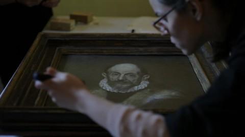 El Greco a Toledo - allestimento della mostra presso il Museo di Santa Cruz, Toledo 2014