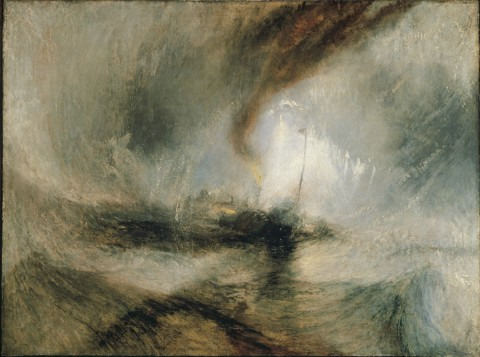 William Turner, Snow Storm. Steam-boat off a Harbour's Mouth, 1842 - © Tate