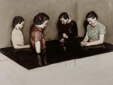 Un'opera di Michaël Borremans esposta al Bozar di Bruxelles