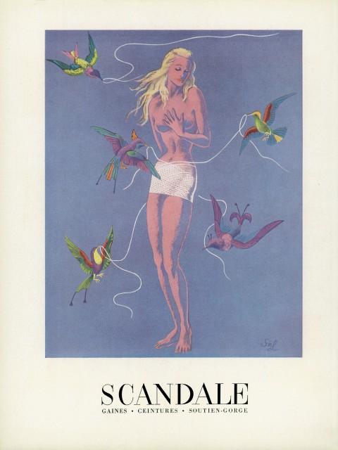 Pubblicità Scandale di S. N. Lesage, 1955 - Courtesy Hop Lun Brands Limited