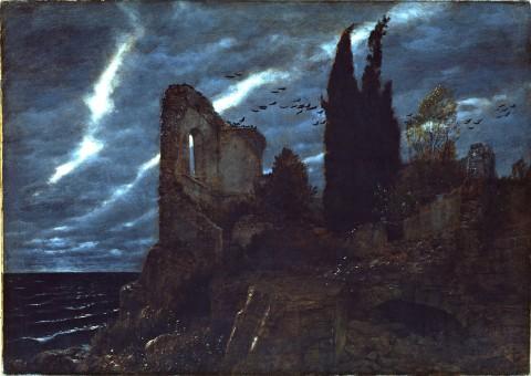 Arnold Böcklin: Ruine am Meer (Rovina sul mare),1880, Olio su tela Aargauer Kunsthaus Aarau / Deposited with the Gottfried Keller-Stiftung Foundation