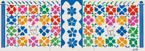 Henri Matisse, Large Composition with Masks 1953 National Gallery of Art, Washington. Ailsa Mellon Bruce Fund 1973.17.1 Digital Image: © National Gallery of Art, Washington © Succession Henri Matisse/DACS 2014