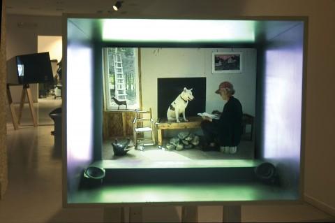 Joan Jonas, My New Theater III, In the Shadow a Shadow (1999), Installation view, Galleria Civica di Arte Contemporanea, di Trento, Trento, Photo: Moira Ricci, Courtesy the artist
