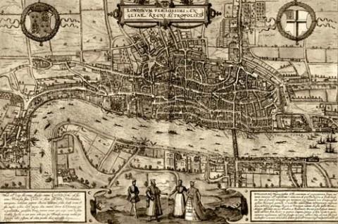 Una mappa della vecchia Londra