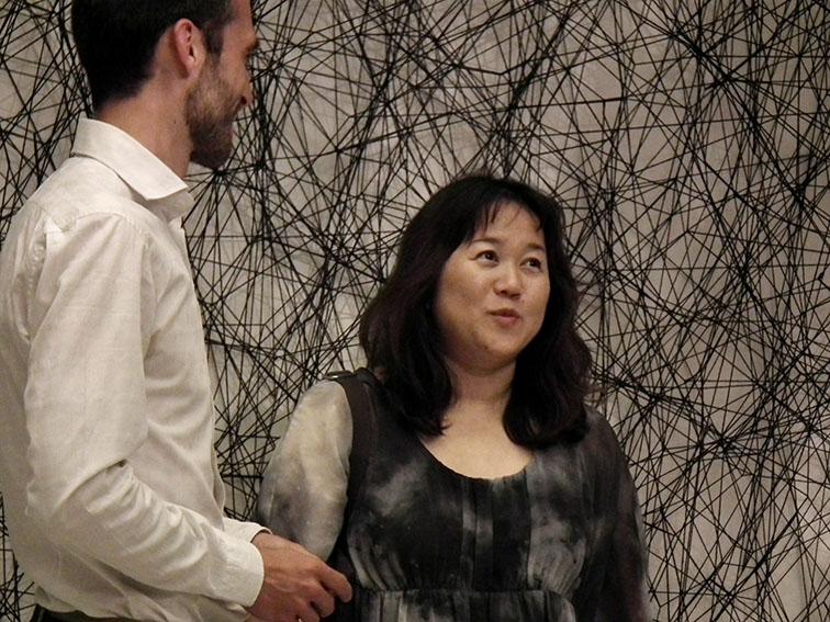 Chiharu Shiota e Angel Moya