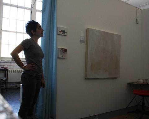 Beatrice nel suo nuovo spazio presso Artists Alliance, Lower East Side. New York City