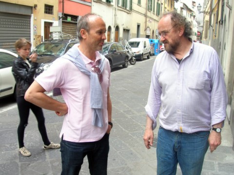 Erwin Wurm e Maurizio Nannucci a Base