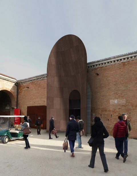 L'ingresso Padiglione Italia
