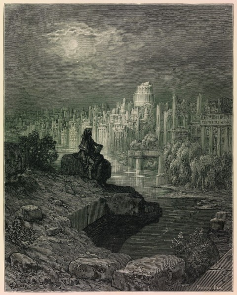 Ruin Lust. Gustave Doré, The New Zealander in London; A pilgrimage, 1872. University Art Museum, University College London. Courtesy Tate, Londra