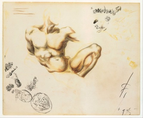 Uno dei sei disegni di Pollock esposti a Palazzo Vecchio