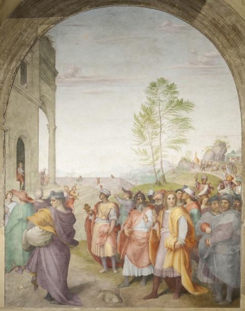 Andrea del Sarto, Viaggio dei Magi, 1511, affresco staccato cm 417x315. Firenze, SS. Annunziata. Patrimonio FEC