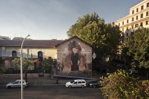 Borondo - Outdoor 2012 - Roma (foto Daniela Pellegrini)