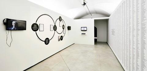 Un'installazione di  Paolo Cirio alla Strozzina di Firenze