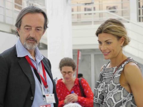 Martina Colombari con Giovanni Gastel
