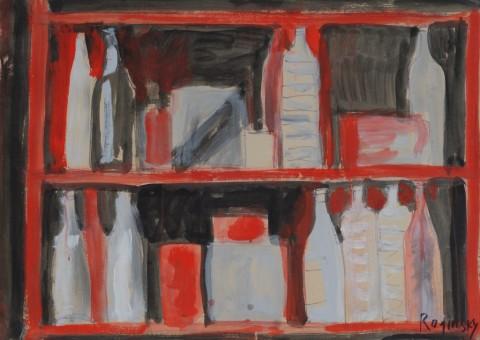 Mikhail Roginsky - Bottles on the shelf, 1978. Courtesy  Mikhail Roginsky Foundation © Mikhail Roginsky, ACS London 2014