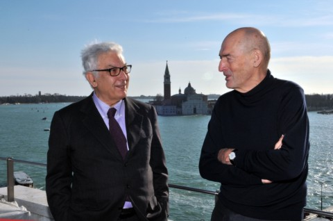 Paolo Baratta e Rem Koolhaas a Venezia - foto Giorgio Zucchiatti, courtesy La Biennale