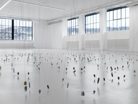 Tatiana Trouvé, 350 Points Towards Infinity, 2009, Installation view. Photo Stefan Altenburger, Courtesy, Johann König Gallery
