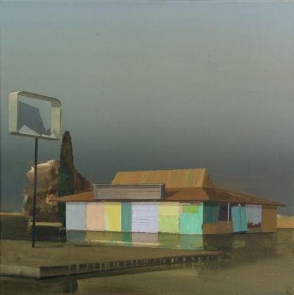 Ulf Puder, Ryder's House, 2014, Oil on canvas, 50 x 50 cm