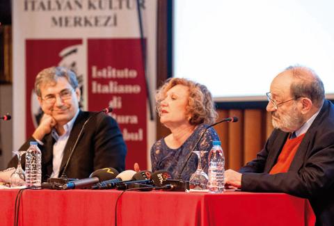 Umberto Eco e Orham Pamuk all'IIC di istanbul