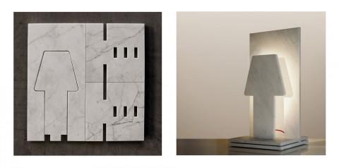 """Paolo Ulian e Moreno Ratti, """"40x40"""" (dalla marmetta alla lampada)"""
