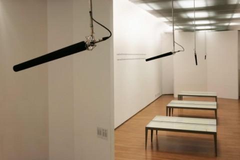 Alberto Garutti, In queste sale 28 microfoni registrano tutte le parole che gli spettatori pronunceranno. Un libro a loro dedicato le raccoglierà   2012
