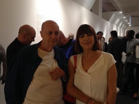 Alessandro Guerriero con Gisella Borioli di Superstudio