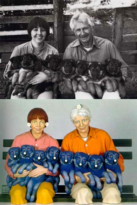 Jeff Koons - Art Rogers, Puppies, 1985