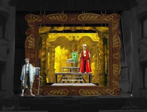 Bajazet, scenografia dall'Atto II
