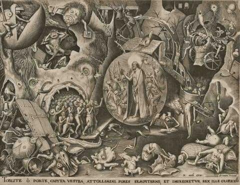 Cristo nel limbo, 1561 circa. Incisione di Pieter van der Heyden da Pieter Bruegel il Vecchio – Collezioni della Fortezza di Coburg, Gabinetto delle incisioni. Foto: Collezioni della Fortezza di Coburg/Lutz Naumann