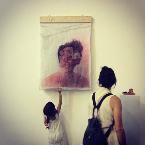 L'inaugurazione della mostra di Gui Pondé a Cagliari