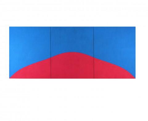 Marcia Hafif , 178., décembre 1967, acrilico su tela, ., 200 x 480 cm, collection de l'artiste, dépôt Mamco, inv. 1999-242 (1 à 3)