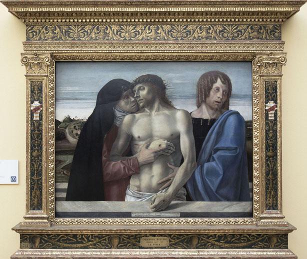 Giovanni Bellini - Pietà (1460). Milano, Pinacoteca di Brera