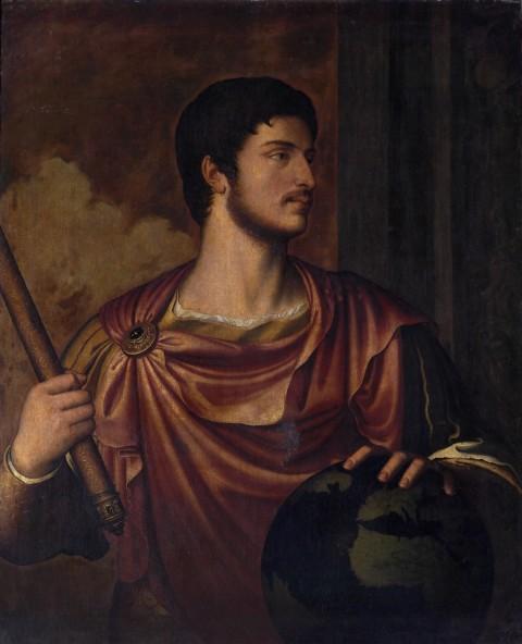 Bernardino Campi (1522-1592), Ritratto dell'imperatore Ottaviano Augusto, olio su tela, 1562. Copia dalla serie perduta dei Cesari di Tiziano. Napoli, Museo Nazionale di Capodimonte, inv. Q1150 (1930).