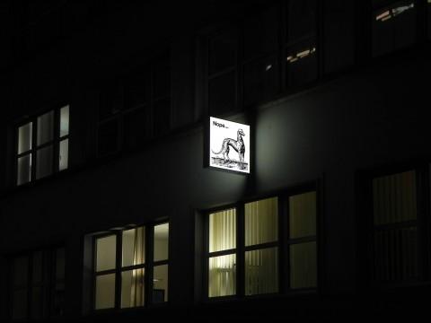 "Liam Gillick, ""Nope"", exhibition view, 2m2 Gallery, 2012"
