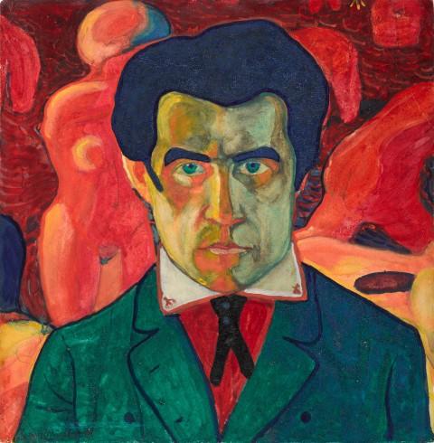 Kazimir Malević, Self Portrait 1908-1910.Tretyakov Gallery, Moscow, Russia