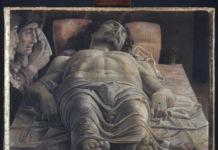 Andrea Mantegna, Cristo morto nel sepolcro e tre dolenti, 1470-74, Milano Pinacoteca Brera
