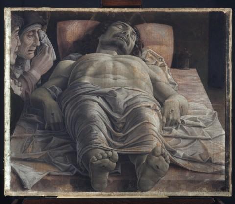 Andrea Mantegna, Cristo morto, 1475-78, tempera su tela, Pinacoteca di Brera, Milano