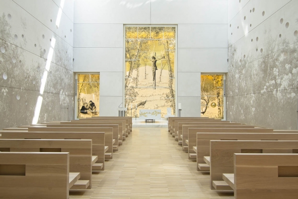 Chiesa del Nuovo Ospedale PG23 di Bergamo. Intervento di Andrea Mastrovito
