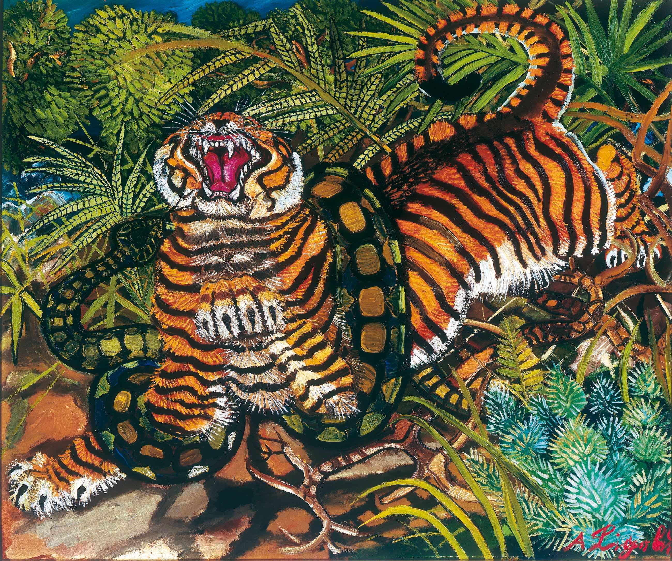 Antonio ligabue artista visionario dai margini dell for Immagini tigre da colorare