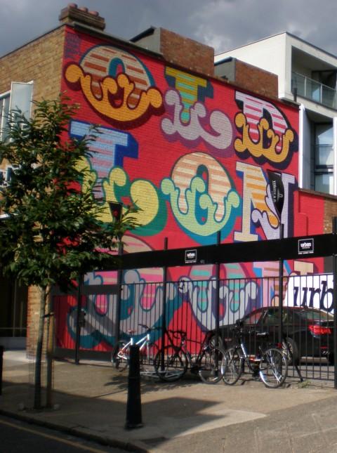 Ben Eine, Old London, Club Bow street, Shoreditch, London, 2014