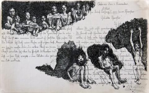 Francesco De Grandi, Palermo 1915, china su carta (2013), LGT