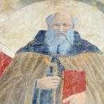 Un particolare del Sant'Antonio Abate attribuito a Piero della Francesca (foto arezzonotizie)