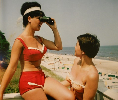 Kurz Schwarzer, Junge Frauen am Strand von Binz, um 1960